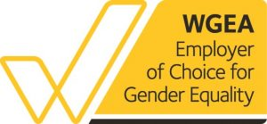 Logo for recognition as WGEA Employer of Choice for Gender Eequality